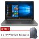 """HP 15-da1017TX 15.6"""" FHD Laptop Silver ( i5-8265U, 4GB, 1TB, MX110 2GB, W10 )"""