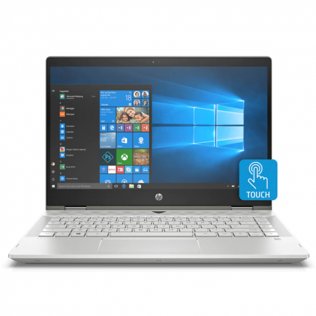 "HP Pavilion x360 14-cd1009TX 14"" FHD Touch Laptop Gold ( i7-8565U, 4GB, 1TB + 8GB, MX130 4GB, W10)"