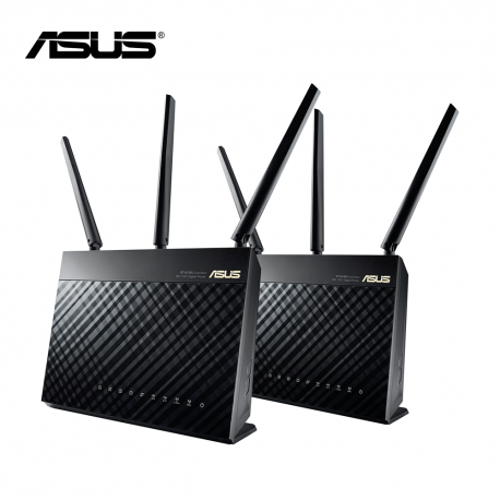 Asus RT-AC68UTP AC1900 Dual-Band Wi-Fi Gigabit Router (Twin Pack)