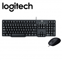 Logitech MK100 Classic Desktop Wired Keyboard Mouse Combo (920-003649)