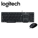Logitech MK100 Classic Desktop Wired Keyboard Mouse Combo