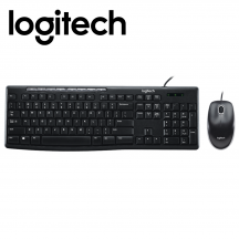 Logitech MK200 Media Desktop Wired Keyboard Mouse Combo (920-002693)
