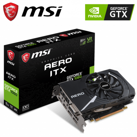 MSI GTX 1060 Aero ITX 6GB OC GDDR5 Graphic Card