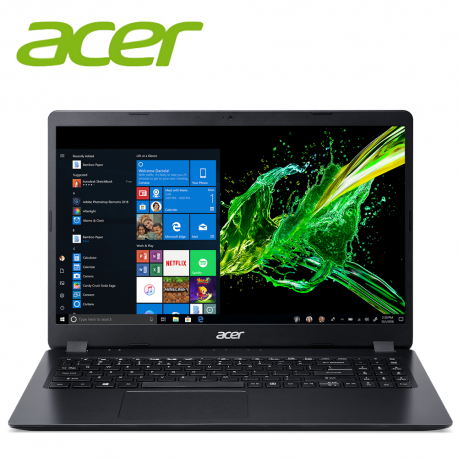 "Acer Aspire 3 A315-54-31J3 15.6"" Laptop Black ( i3-8145U, 4GB, 256GB, Intel, W10 )"