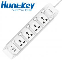 HuntKey SZL407 4 Sockets/2 USB Ports Power Strip Surge Protector