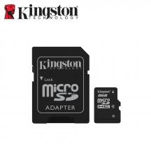 Kingston SDC4 MicroSDHC Class 4 Memory Card + SD Adaptor