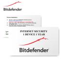 Bitdefender Internet Security 2020 1 User 1 Year - E-Card