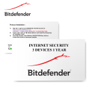 Bitdefender Internet Security 2020 3 Devices 1 Year - E-Card