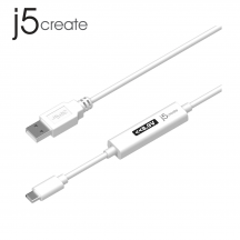 j5create JUCP13 Type-A 2.0 to USB-C™ Cable with OLED Dynamic Power Meter