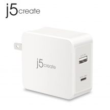 j5create JUP2230F 30W 1 Port PD USB-C Mobile Charger + 1 Quick Charge