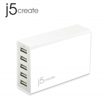 j5create JUP50 40W 5-Port USB Super Charger