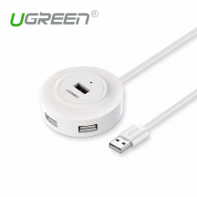 UGREEN 20270 USB 2.0 Hub 4 Ports for PC, Cell Phones, eReaders, Tablets