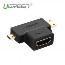 UGREEN 20144 2 in 1 Mini / Micro HDMI Male to Female Adapter