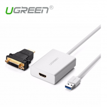 UGREEN 40229 USB 3.0 to HDMI DVI External Video Card Graphic Adapter