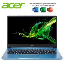Acer Swift 3 SF314-57-50TR 14'' FHD Laptop Glacier Blue ( i5-1035G1, 8GB, 512GB, Intel, W10, HS )
