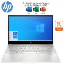 HP ENVY 15-ep0009TX 15.6'' FHD Touch Laptop Natural silver ( i5-10300H, 16GB, 512GB SSD, GTX1650Ti 4GB, W10, HS )