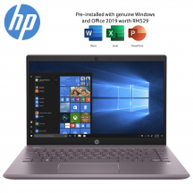 "HP Pavilion 14-ce3078TX 14"" FHD Laptop Misty Mauve ( Purple ) ( i5-1035G1, 8GB, 512GB SSD, MX250 2GB, W10, HS )"