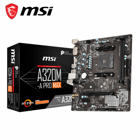 MSI A320M A Pro Max Motherboard (AMD AM4)