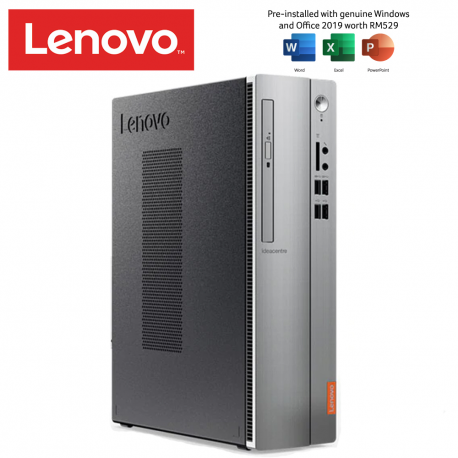 Lenovo Ideacentre 510S-07ICK 90LX001MMI Desktop PC ( i5-9400, 4GB, 1TB, Intel, W10H, H & Student )