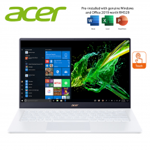"""Acer Swift 5 SF514-54GT-53FE 14"""" FHD Touch Laptop Moonstone White ( i5-1035G1, 8GB, 512GB SSD, MX350 2GB, W10, HS )"""