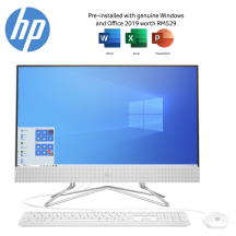 HP 24-dF0018d 23.8'' FHD All-In-One Desktop PC Snow White ( i5-1035G1, 4GB, 1TB, Intel, W10, HS )