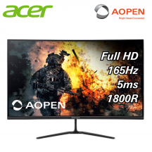 "Acer AOpen 32HC5QR 32"" Curved 165Hz Gaming Monitor ( HDMI, DP, 3Yrs Wrty )"