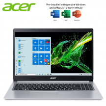 Acer Aspire 5 A515-56-54AW 15.6'' FHD Laptop Pure Silver ( i5-1135G7, 4GB, 512GB SSD, Iris Xe, W10, HS )