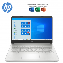 HP 14s-fq0074AU 14'' Laptop Natural Silver ( Ryzen 3 4300U, 4GB, 512GB SSD, ATI, W10, HS )