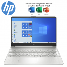 HP 15s-eq1149AU 15.6'' FHD Laptop Natural Silver ( Ryzen 5 4500U, 4GB, 512GB SSD, ATI, W10, HS )
