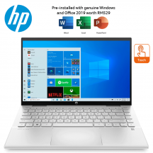 "HP Pavilion x360 14-dy0018TU 14"" FHD Touch Laptop Natural Silver ( i5-1135G7, 8GB, 512GB SSD, Intel, W10, HS )"
