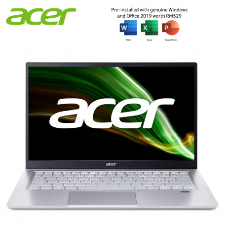Acer Swift 3 SF314-511-51YL 14'' FHD Laptop Pure Silver ( i5-1135G7, 8GB, 512GB SSD, Intel, W10 )