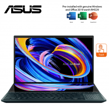 """ASUS Zenbook Pro Duo UX582L-RH2031RS 15.6"""" OLED 4K UHD Touch Blue Laptop ( i7-10870H, 32GB, 1TB SSD, RTX3070 8GB, W10P, HS )"""