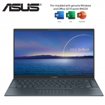 Asus ZenBook 14 UX425J-AB689TS 14'' FHD Laptop Pine Grey ( i7-1065G7, 8GB, 512GB SSD, Intel, W10, HS )