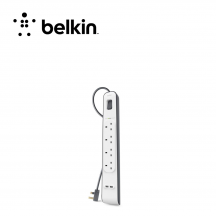 Belkin 4 Outlets 2m Surge Protection Strip With 2 Usb Ports