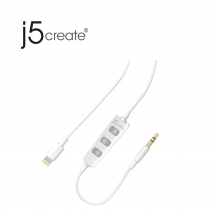 j5create JLA163W Lightning to Headphone Cable with HQ Amplifier
