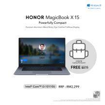 Honor Magicbook X 15 1UGE 15.6'' FHD Laptop Space Gray ( i3-10110U, 8GB, 256GB, Intel, W10 )