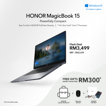 Honor MagicBook 15-1UUY 2021 15.6'' FHD Laptop Space Gray ( i5-1135G7, 16GB, 512GB SSD, Iris Xe, W10 )