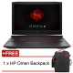 "HP OMEN 17-an140TX 17.3"" FHD IPS Gaming Laptop (i7-8750H, 16GB, 1TB+256GB ,NV GTX1070 8GB , W10)"