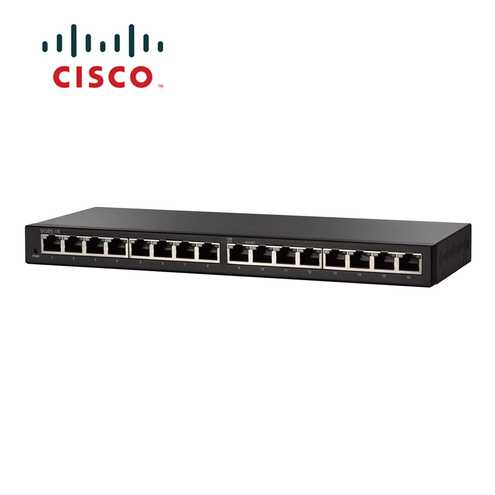 Cisco Sg95 16 16 Port Gigabit Desktop Switch Nb Plaza