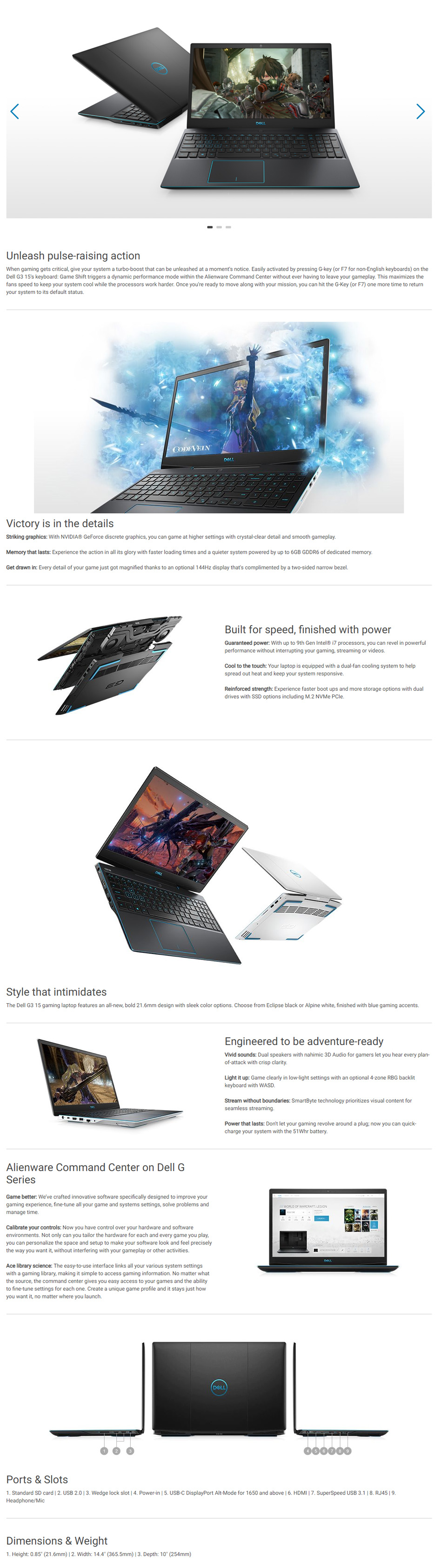 Dell Inspiron G3 15 G3-97114G1650-SSD 15 6