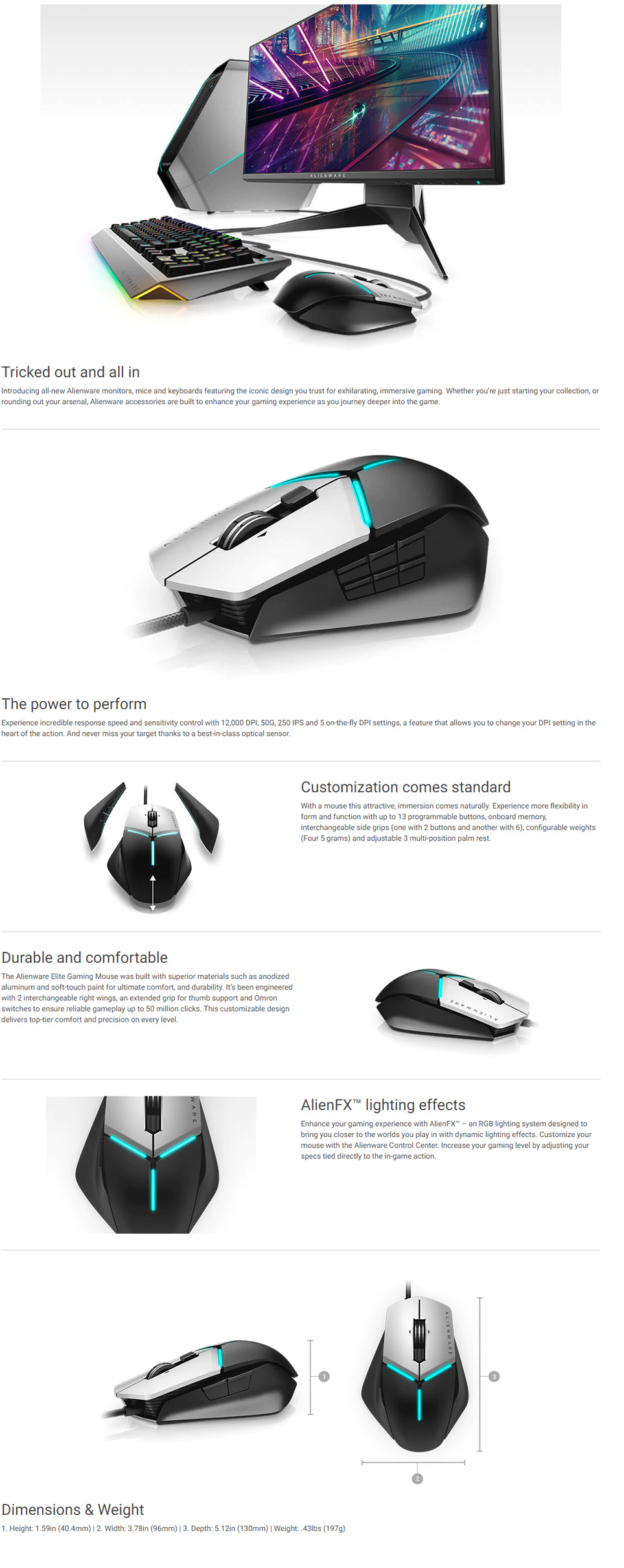 24ff0913ba2 Dell Alienware Elite Gaming Mouse AW (end 5/12/2020 3:51 PM)
